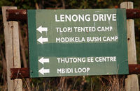 signpost to Lenong Drive at Marakele National Park