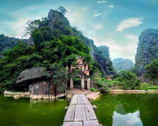 Bich Dong pagoda cave complex. Ninh Binh, Vietnam