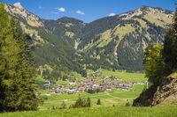 Village in the Allgaeu Alps Austria