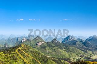beautiful karst hills scenery