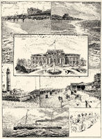 Pictures of Westerland, the Kurhaus project in 1900, Sylt, Germany