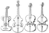 stringed instruments, violins, case-violin, viola da gamba, viola, 16th Century
