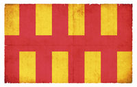 Grunge flag of Northumberland (Great Britain)