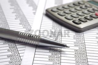 Kalkulation mit Zahlentabelle und Chart