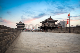 xi 'an ancient city wall scenery