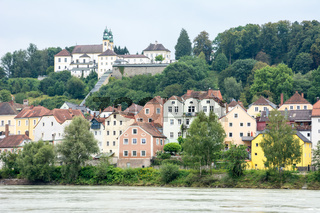 Waterfront of Passau at the River Inn