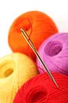 needle and thread macro close up