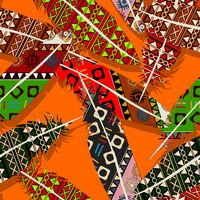 Ikat feather pattern 7