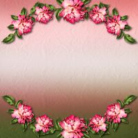 Beautiful painted rose on abstract background for congratulations or invitation