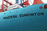 Maersk Edmonton landed in Hamburg, Germany