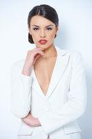 Pretty Woman in White Long Sleeve Shirt