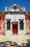Old Catholic church in Murano, Veneto, Italy