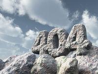 nummer 404 aus stein - 3d illustration