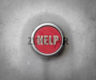 Retro Red Industrial Help Button