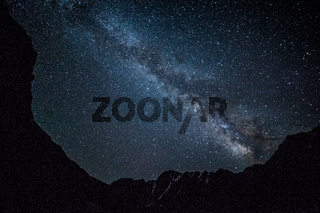 Night sky in mountains