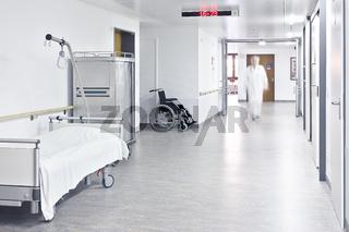 Krankenhaus Arzt Bett Flur