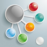 Infographic Big And 5 Small Buttons PiAd