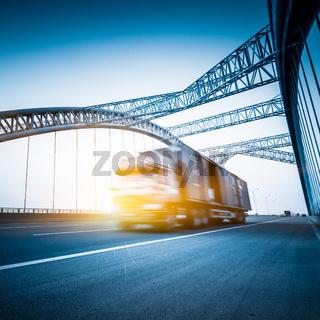 truck motion blur