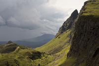 Bad weather front in the Quiraing mountain