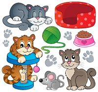 Cat theme collection 1 - picture illustration.