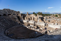 Ancient amphitheatre at Turkey Side city ruins