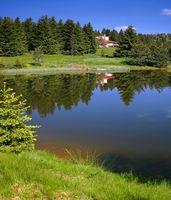 Rodopi mountain lake Bulgaria