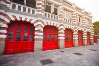 Beautiful Facade of Fire Station in Singapore