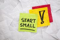 start small advice