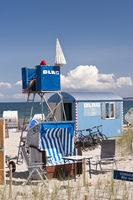 Life saving Guard at the Baltic Sea of Howacht in
