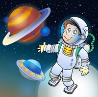 Image with space theme 1 - picture illustration.