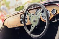 Steering wheel of a Morgan 4