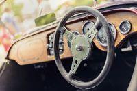 Steering wheel of a Morgan 4