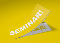 3D Etikett Gelb - Seminar
