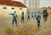 German dragoons fencing