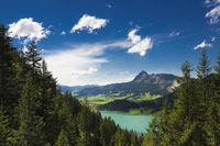 Landscape with lake in Austria