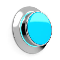 Blank abstract button. 3d render