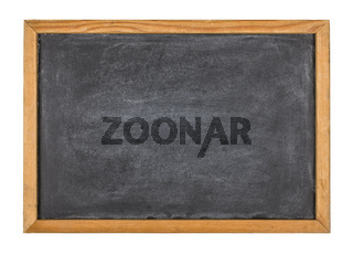 Empty blackboard with a wooden frame