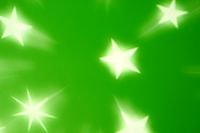 green star glow abstract background