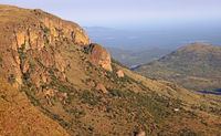 view from Lenong View Point at Marakele NP