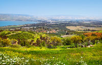 View of the sea of Galilee Kineret