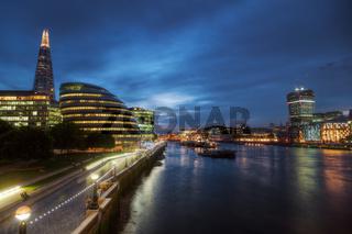 Ansicht von London bei Nacht