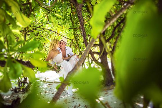 Young couple honeymooning