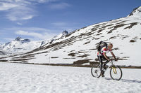 Snow biking in Jotunheimen