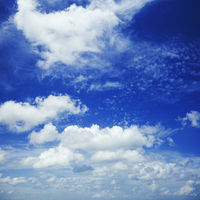 Beautiful blue cloudy sky