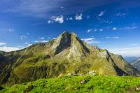 Ostseite der Höfats 2259m, Allgäuer Alpen, Allgäu, Bayern, Deutschland, Europa