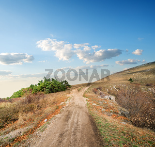 Road to a hill