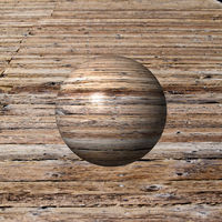 Abstract wooden globe with a wood background.