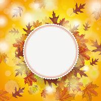 Autumn Foliage Fall Emblem Centre
