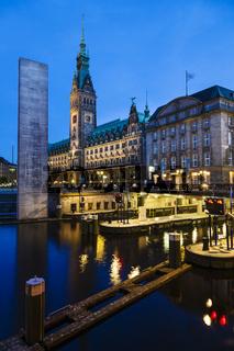 Rathausschleuse vor Hamburger Rathaus, Deutschland