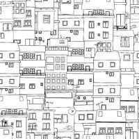 Seamless city sketch